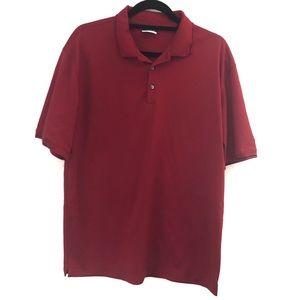 Nike golf men's dri fit polo shirt - dark red L